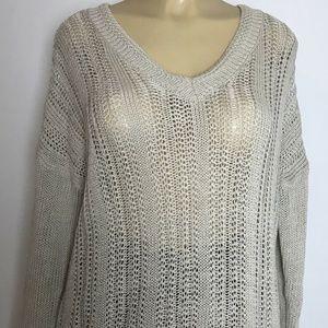 Banana Republic Womens Sweater V-neck Rib Knit M